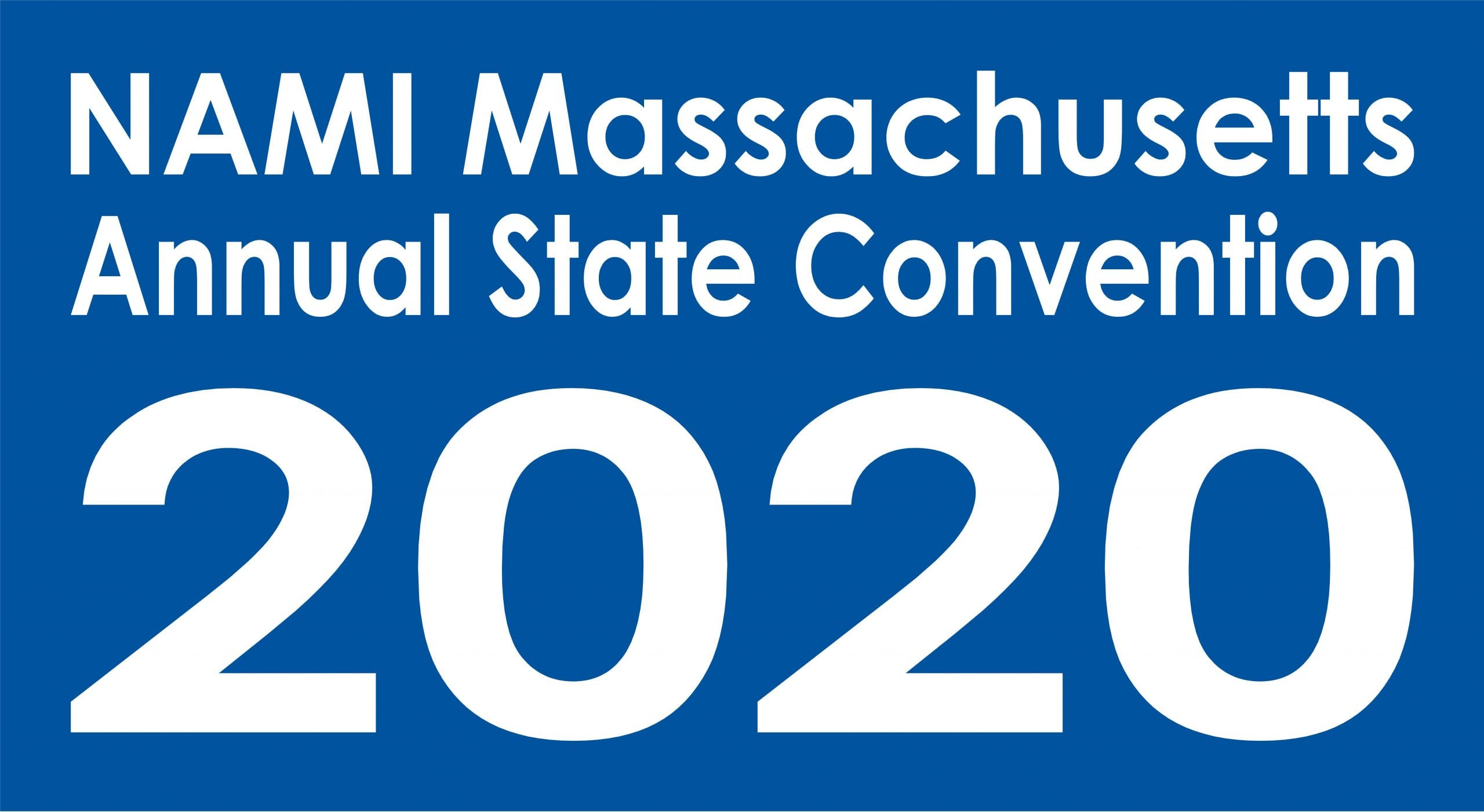 NAMI Massachusetts Annual State Convention 2020 in blue