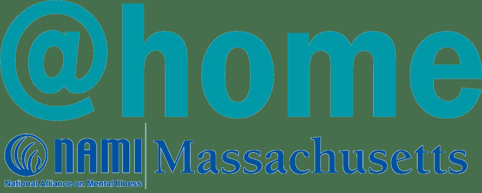NAMI Mass @home program logo