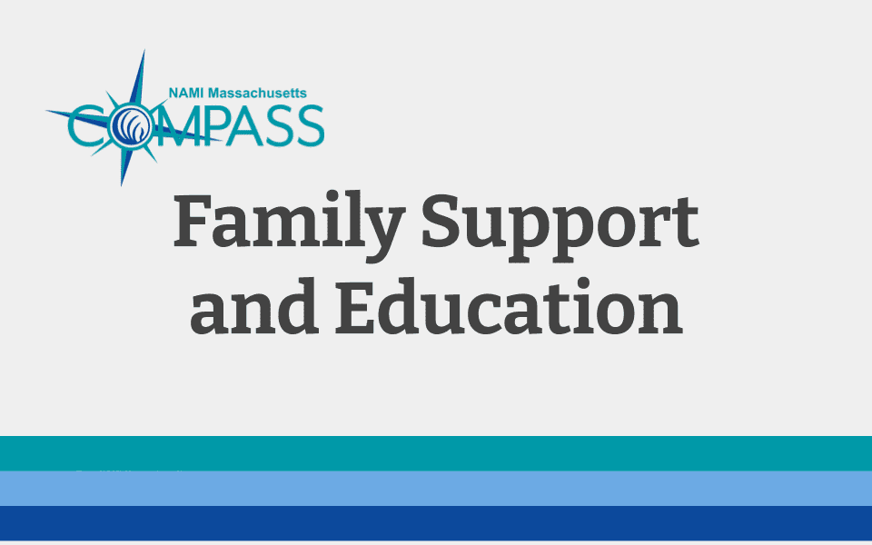 title slide image: Family Support and Education
