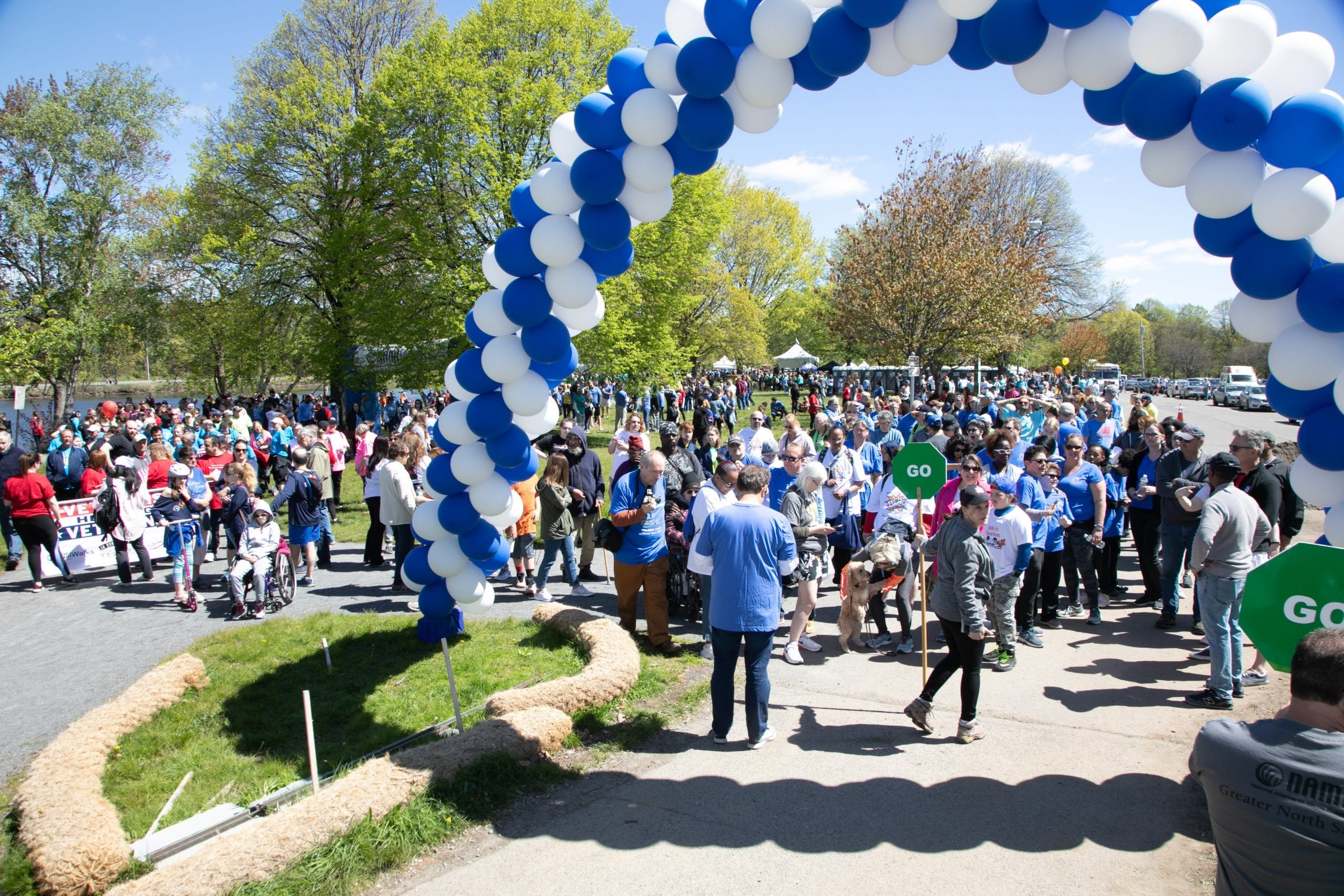 image of participants at the NAMIWalks Massachusetts