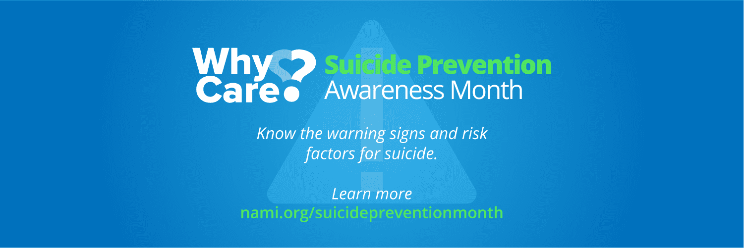 Suicide Prevention Awareness Month banner