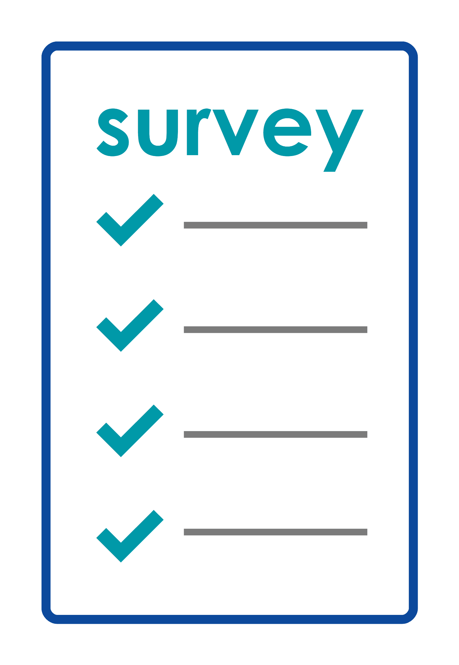 line drawing of a survey form